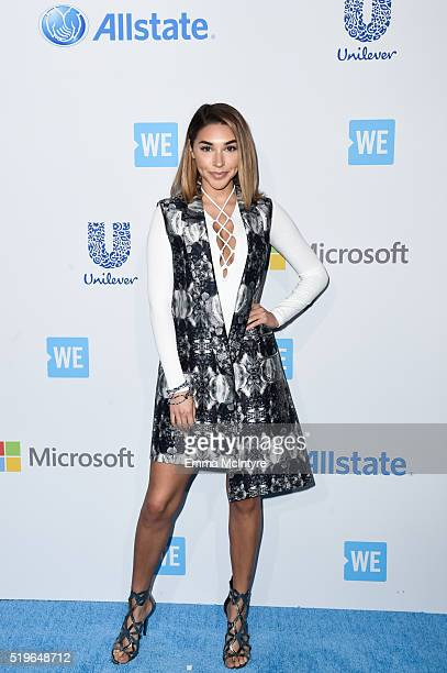Model Chantel Jeffries arrives at WE Day California 2016 at The Forum on April 7 2016 in Inglewood California