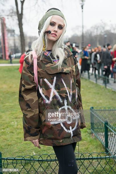 Model Charlotte Free on day 8 of Paris Collections Women on March 10 2015 in Paris France