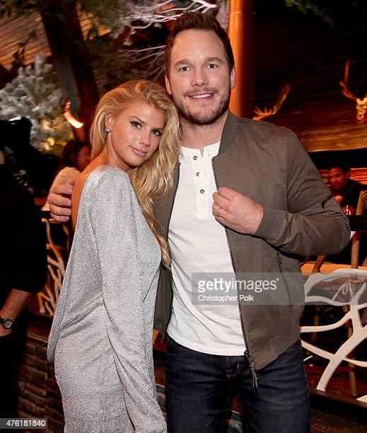 Model Charlotte McKinney and actor Chris Pratt attend Spike TV's Guys Choice 2015 at Sony Pictures Studios on June 6 2015 in Culver City California