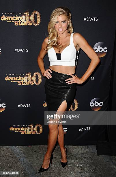 Model Charlotte McKinney attends ABC's 'Dancing With The Stars' season premiere at HYDE Sunset Kitchen Cocktails on March 16 2015 in West Hollywood...