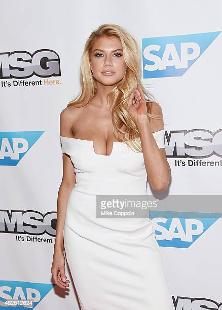 Model Charlotte McKinney attends MSG Networks Original Programming Party at Madison Square Garden on February 5 2015 in New York City
