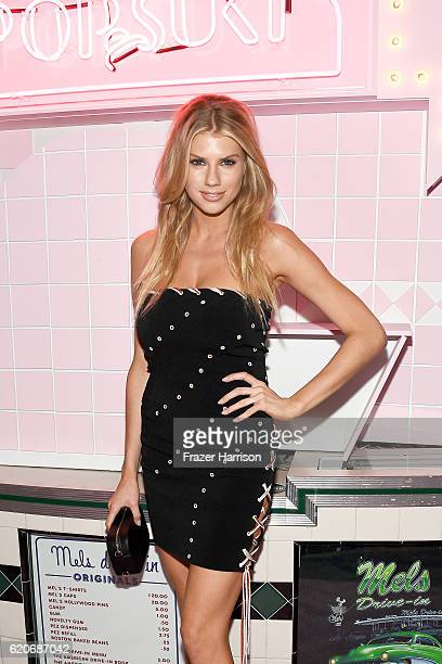 Model Charlotte McKinney attends Poppy Jamie Suki Waterhouse Leo Seigal and Cade Hudson celebration of the launch of POP SUKI on November 2 2016 in...