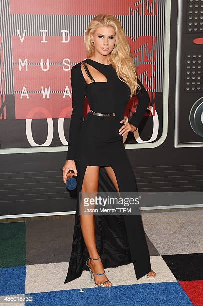 Model Charlotte McKinney attends the 2015 MTV Video Music Awards at Microsoft Theater on August 30 2015 in Los Angeles California