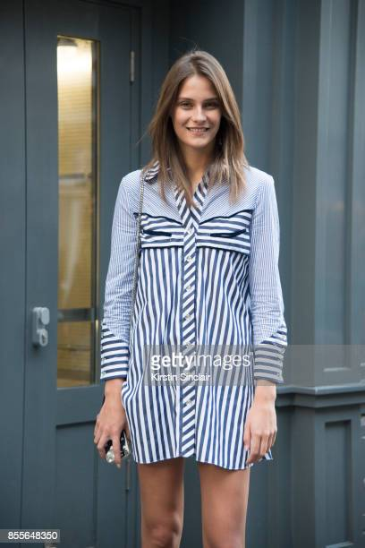 Model Charlotte Wiggins wears a Henry Holland dress on day 2 of London Womens Fashion Week Spring/Summer 2018 on September 16 2017 in London England