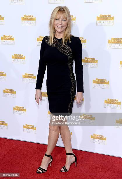 Model Cheryl Tiegs attends NBC and Time Inc celebrate the 50th anniversary of the Sports Illustrated Swimsuit Issue at Dolby Theatre on January 14...