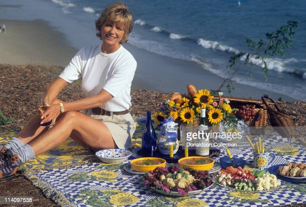 Model Cheryl Tiegs poses for a portrait in c1985 in Los Angeles California