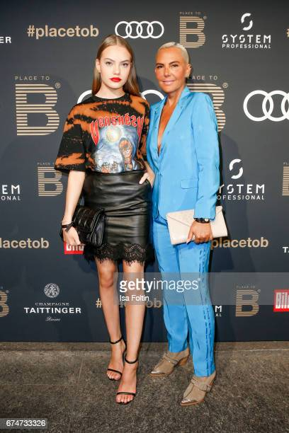 Model Cheyenne Savannah Ochsenknecht and her mother Natascha Ochsenknecht attend the Place To Be Party after the Lola German Film Award on April 28...