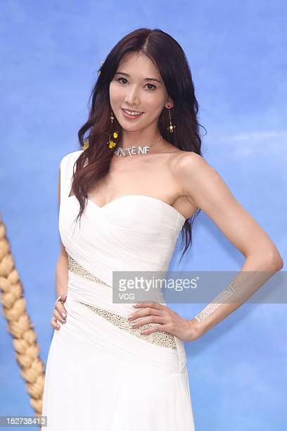 Model Chiling Lin attends Pantene promotional event on September 24 2012 in Taipei Taiwan