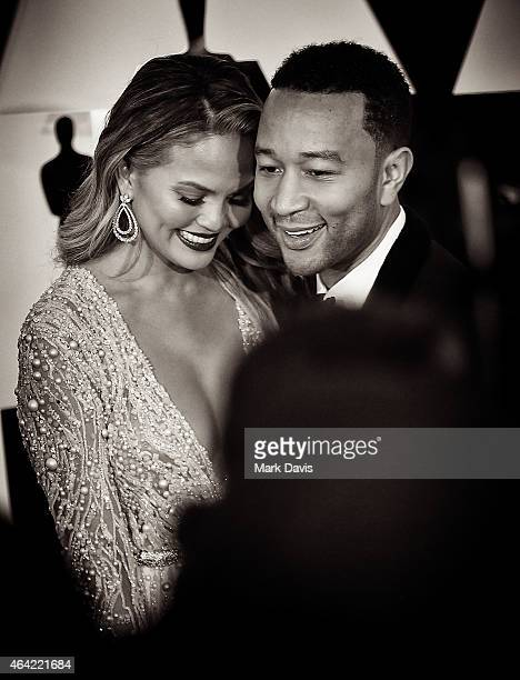 Model Chrissy Teigen and musician John Legend attend the 87th Annual Academy Awards at Hollywood Highland Center on February 22 2015 in Hollywood...