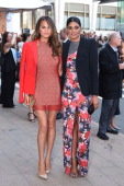 Model Chrissy Teigen and Rachel Roy are seen on June 2 2014 arriving at The 2014 CFDA Fashion Awards in New York City