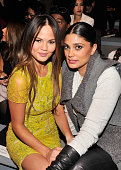 Model Chrissy Teigen and Rachel Roy attend the Vera Wang Fall 2013 fashion show during MercedesBenz Fashion Week at The Stage at Lincoln Center on...