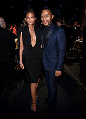 Model Chrissy Teigen and recording artist John Legend attend The 42nd Annual Daytime Emmy Awards at Warner Bros Studios on April 26 2015 in Burbank...