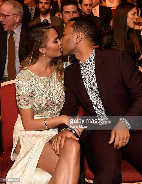 Model Chrissy Teigen and recording artist John Legend attend the 4th Annual NFL Honors at Phoenix Convention Center on January 31 2015 in Phoenix...