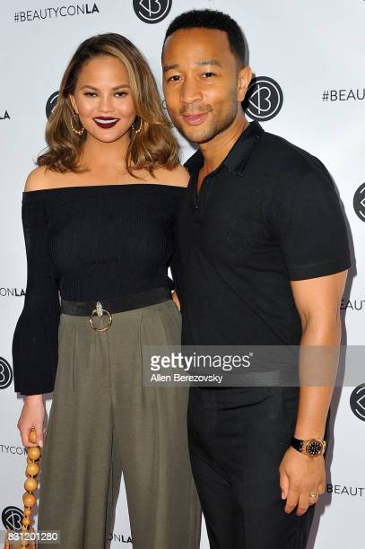 Model Chrissy Teigen and recording artist John Legend attend the 5th Annual Beautycon Festival Los Angeles at Los Angeles Convention Center on August...