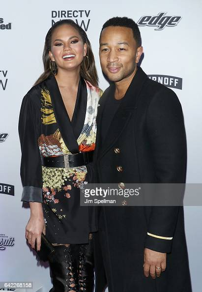Model Chrissy Teigen and singer/songwriter John Legend attend the Sports Illustrated Swimsuit 2017 launch event at Center415 Event Space on February...