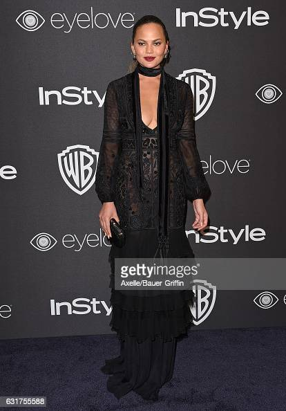 Model Chrissy Teigen arrives at the 18th Annual PostGolden Globes Party hosted by Warner Bros Pictures and InStyle at The Beverly Hilton Hotel on...