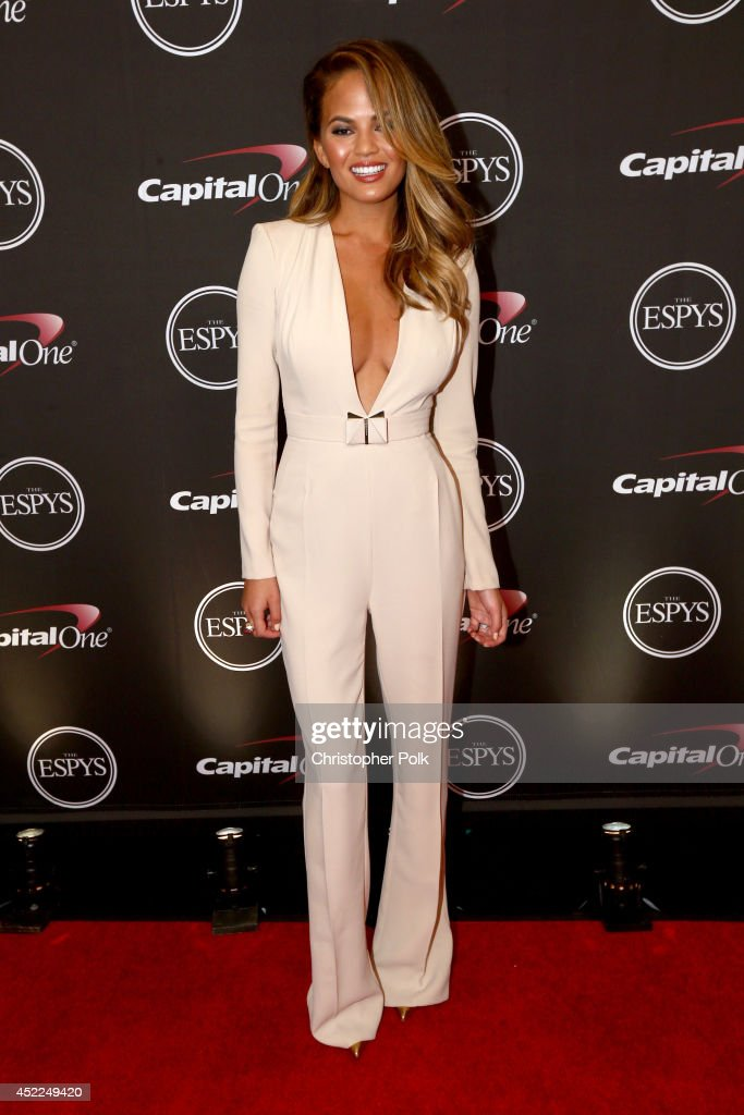 Model Chrissy Teigen attends The 2014 ESPYS at Nokia Theatre L.A. Live on July 16, 2014 in Los Angeles, California.