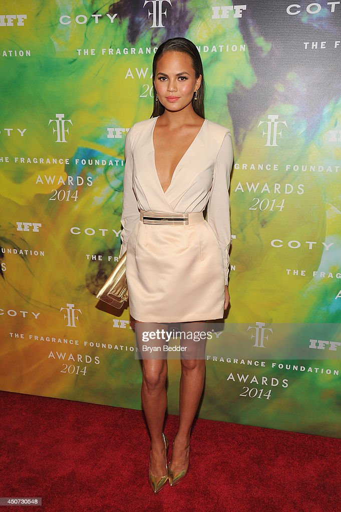 Model Chrissy Teigen attends the 2014 Fragrance Foundation Awards on June 16, 2014 in New York City.