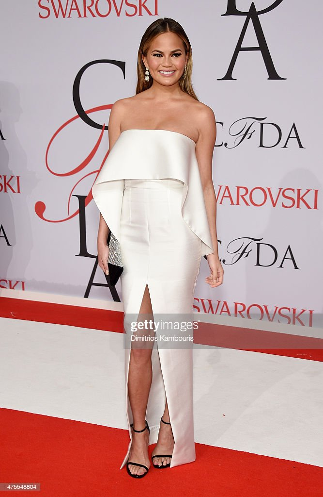Model Chrissy Teigen attends the 2015 CFDA Fashion Awards at Alice Tully Hall at Lincoln Center on June 1, 2015 in New York City.