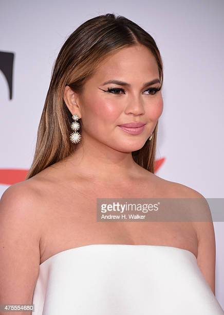 Model Chrissy Teigen attends the 2015 CFDA Fashion Awards at Alice Tully Hall at Lincoln Center on June 1 2015 in New York City