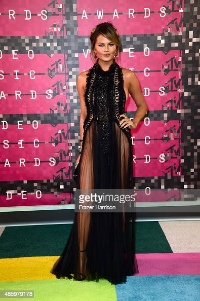 Model Chrissy Teigen attends the 2015 MTV Video Music Awards at Microsoft Theater on August 30 2015 in Los Angeles California