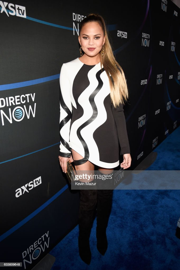 Model Chrissy Teigen attends the 2017 DIRECTV NOW Super Saturday Night Concert at Club Nomadic on February 4, 2017 in Houston, Texas.