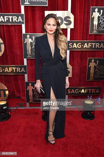 Model Chrissy Teigen attends The 23rd Annual Screen Actors Guild Awards at The Shrine Auditorium on January 29 2017 in Los Angeles California