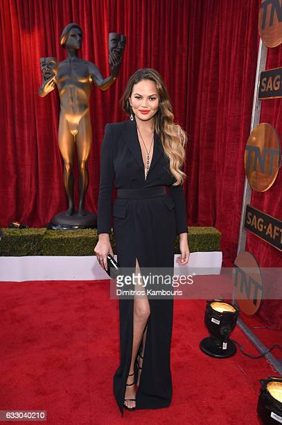 Model Chrissy Teigen attends The 23rd Annual Screen Actors Guild Awards at The Shrine Auditorium on January 29 2017 in Los Angeles California...