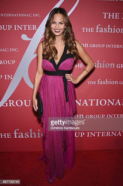 Model Chrissy Teigen attends the 31st Annual FGI Night of Stars event at Cipriani Wall Street on October 23 2014 in New York City