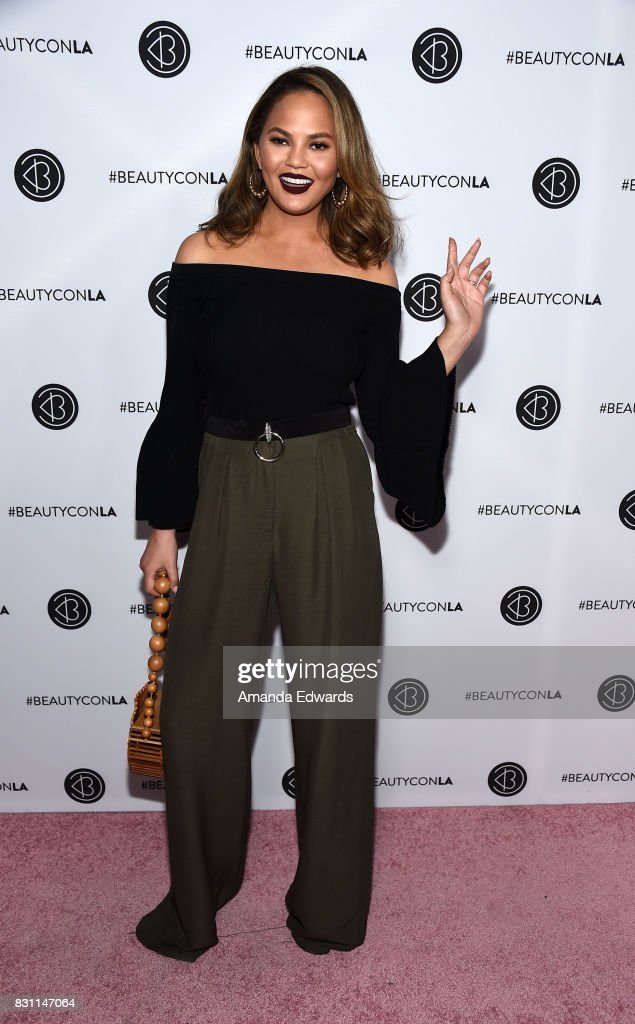 Model Chrissy Teigen attends the 5th Annual Beautycon Festival Los Angeles at the Los Angeles Convention Center on August 13, 2017 in Los Angeles, California.