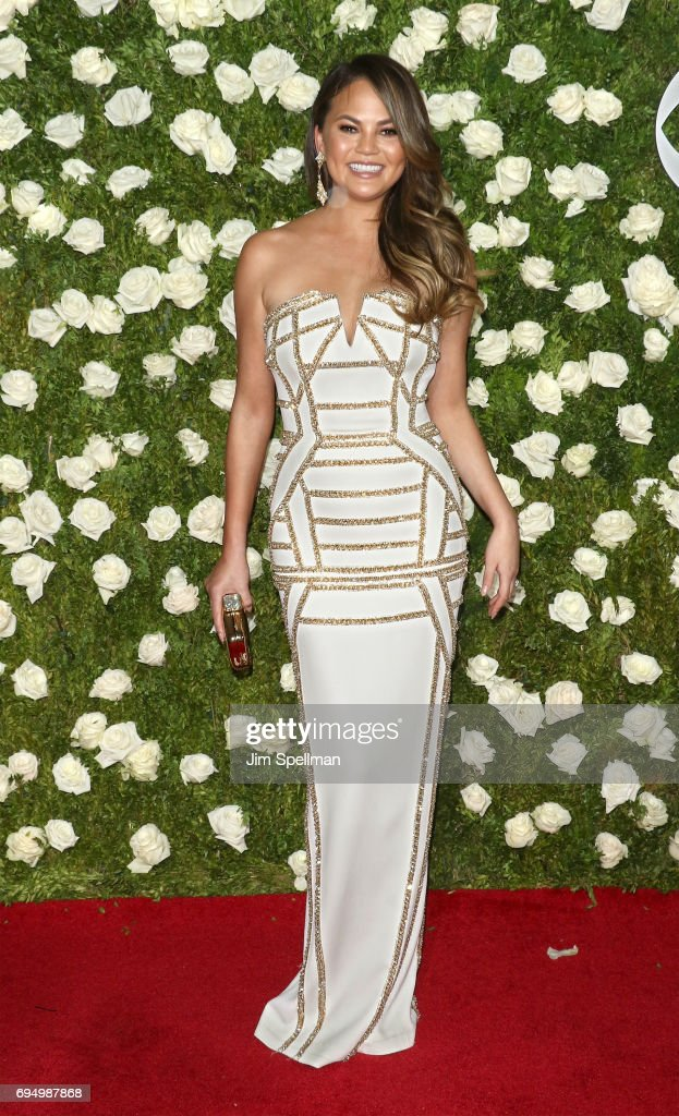Model Chrissy Teigen attends the 71st Annual Tony Awards at Radio City Music Hall on June 11, 2017 in New York City.