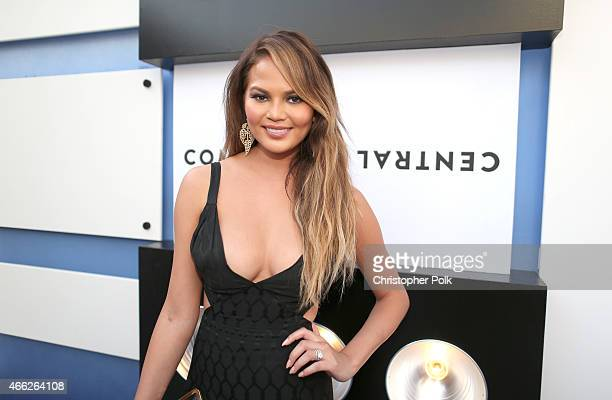 Model Chrissy Teigen attends The Comedy Central Roast of Justin Bieber at Sony Pictures Studios on March 14 2015 in Los Angeles California