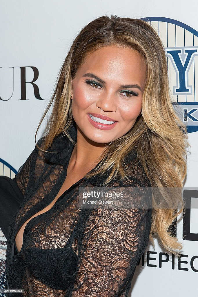 Model Chrissy Teigen attends the DuJour celebration of cover star Chrissy Teigen at NYY Steak Manhattan on July 28, 2014 in New York City.