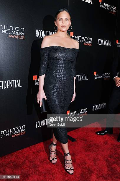 Model Chrissy Teigen attends the Hamilton Behind The Camera Awards presented by Los Angeles Confidential Magazine at Exchange LA on November 6 2016...
