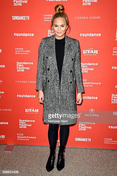 Model Chrissy Teigen attends the 'Southside With You' Premiere during the 2016 Sundance Film Festival at Eccles Center Theatre on January 24 2016 in...