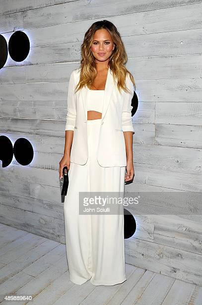 Model Chrissy Teigen attends the VIP sneak peek of the go90 Social Entertainment Platform at the Wallis Annenberg Center for the Performing Arts on...