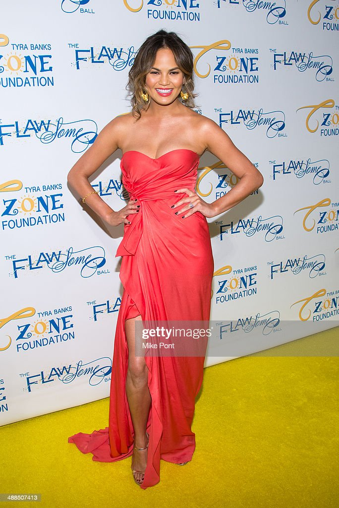 Model Chrissy Teigen attends Tyra Banks' Flawsome Ball 2014 at Cipriani Wall Street on May 6, 2014 in New York City.