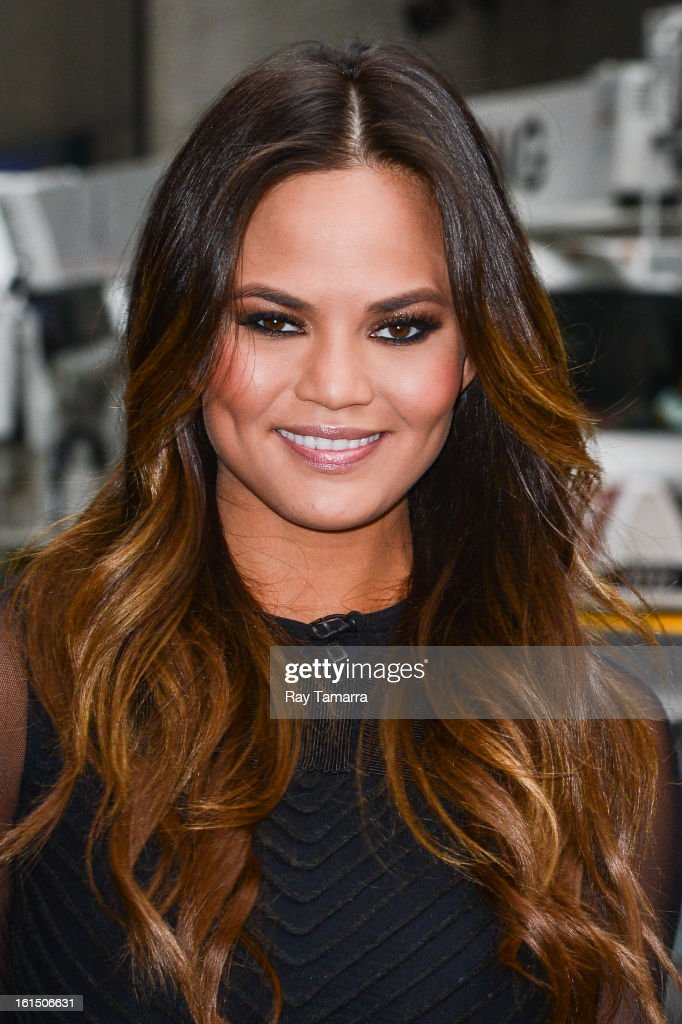 Model Chrissy Teigen enters the 'Late Show With David Letterman' taping at the Ed Sullivan Theater on February 11, 2013 in New York City.