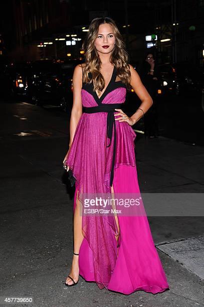 Model Chrissy Teigen is seen on October 23 2014 in New York City