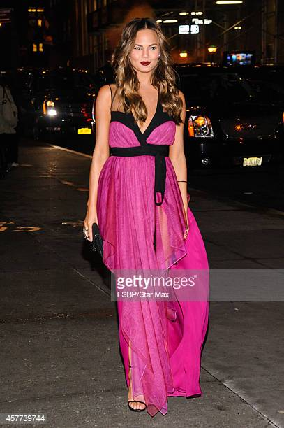Model Chrissy Teigen is seen on October 23 2014 in New York City