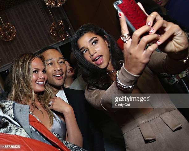 Model Chrissy Teigen singer/songwriter John Legend and DJ Hannah Bronfman attend as John Legend Public School WME   IMG New Profit unveil the...