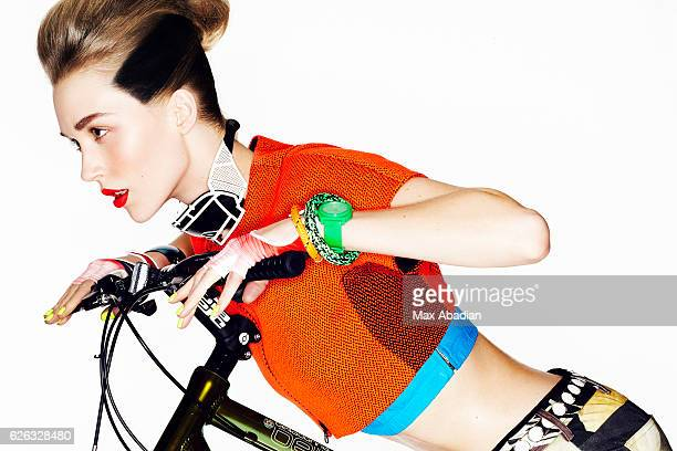 A Model is photographed for a beauty and sports editorial for Flare Magazine on February 17 2012 in Montreal Quebec Published Image