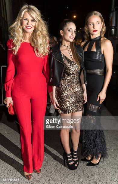 Model Christie Brinkley and daughters Alexa Ray Joel and Sailor Lee BrinkleyCook are seen arriving at Sports Illustrated Swimsuit 2017 Launch Event...