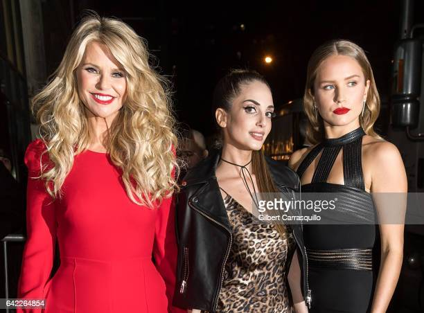 Model Christie Brinkley and daughters Sailor Lee BrinkleyCook and Alexa Ray Joel are seen arriving at Sports Illustrated Swimsuit 2017 Launch Event...