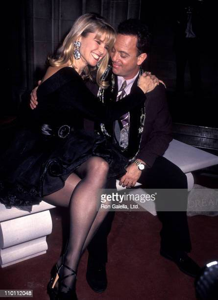 Model Christie Brinkley and musician Billy Joel attend 'A Divine Celebration' Cathedral of St John the Divine Honors Billy Joel on December 5 1990 at...