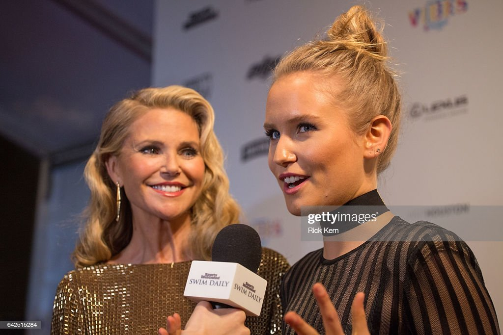 Model Christie Brinkley (L) and Sailor Brinkley Cook attend the VIBES by Sports Illustrated Swimsuit 2017 launch festival at Post HTX on February 17, 2017 in Houston, Texas.