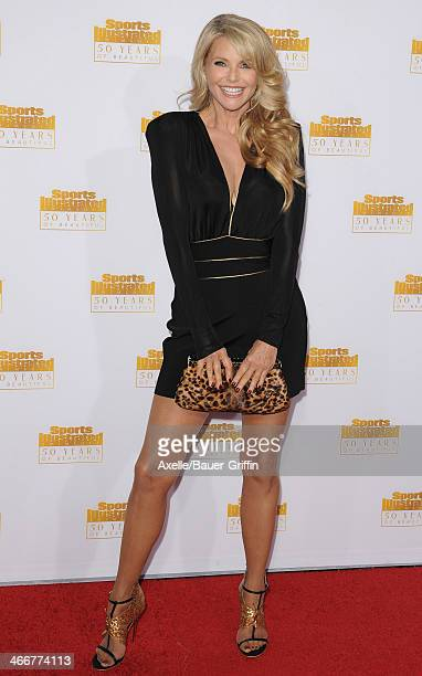 Model Christie Brinkley arrives at NBC And Time Inc Celebrate 50th Anniversary Of Sports Illustrated Swimsuit Issue at Dolby Theatre on January 14...