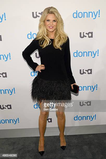 Model Christie Brinkley attends as USA Network hosts the premiere of 'Donny' at The Rainbow Room on November 3 2015 in New York City