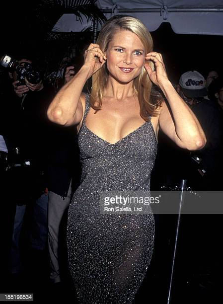 Model Christie Brinkley attends Cartier Launches the Tank Francaise Watch Collection on May 8 1996 at the former B Altman Company Store 361 Fifth...