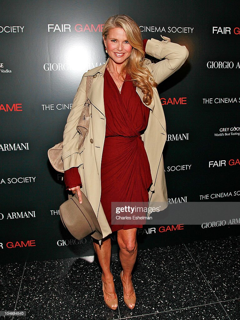 Model Christie Brinkley attends Giorgio Armani & The Cinema Society's screening of 'Fair Game' at The Museum of Modern Art on October 6, 2010 in New York City.